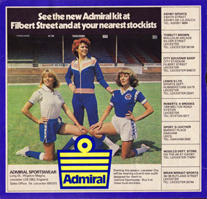 Admiral replica football shirts kits jerseys 1970s leicester city