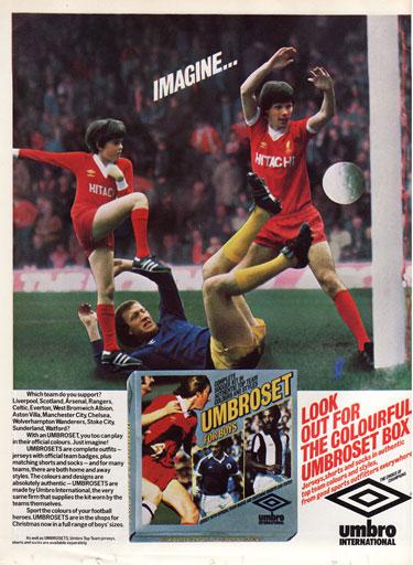 Vintage Kit Advertisements True Colours Football Kits