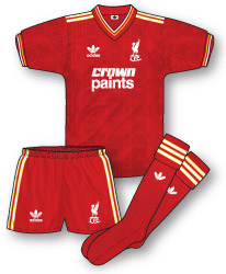 online retailer c7cba a945e Liverpool Home Kit 1985-87: True Colours Hall of Fame – True ...