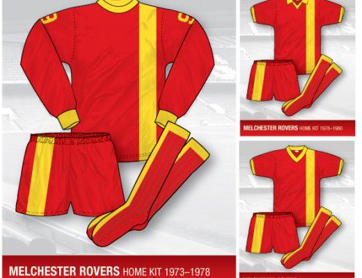 melchester rovers kit, melchester rovers shirt