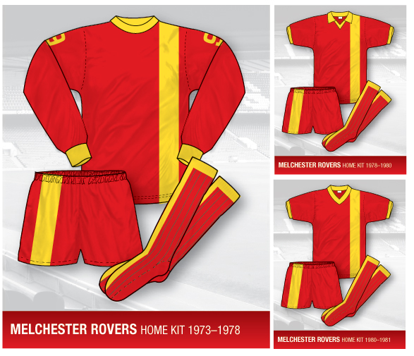 melchester rovers kit, melchester rovers shirt