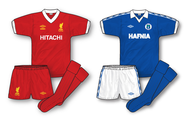 liverpool and everton in their 1979-80 sponsored shirts