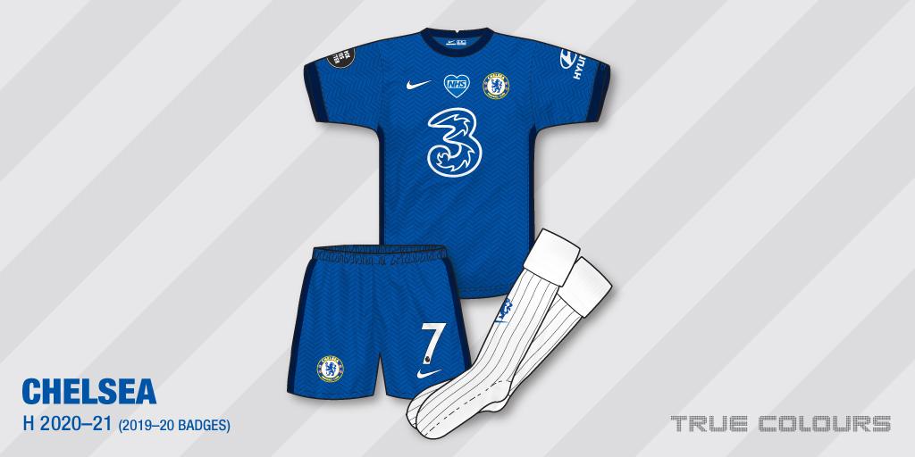 Chelsea 2020-21 home kit