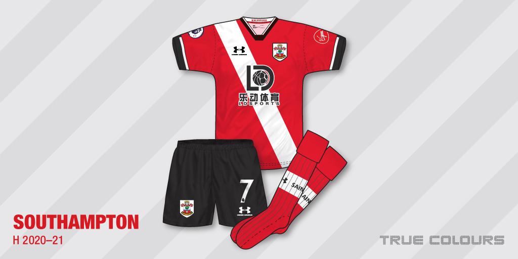 Southampton 2020-21 home kit